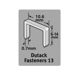Dutack Fasteners Niet serie 13 Cnk 6mm blister/1000 st.